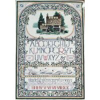 Teresa Wentzler ENGLISH COTTAGE SAMPLER Cross Stitch Kit Alphabet Just Cross Sti