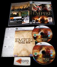 EMPIRE TOTAL WAR American Revolution PC DVD-ROM Pal Uk 2cd Sega