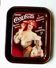 1982 75th ANNIV. COCA-COLA BOTTLING WORKS, CORINTH, MS. 1907 CALENDAR GIRL TRAY