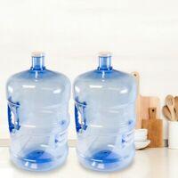 2 PC AMERICAN MADE BPA Free Reusable Large 5 Gallon Water Bottle Jug Leak Proof