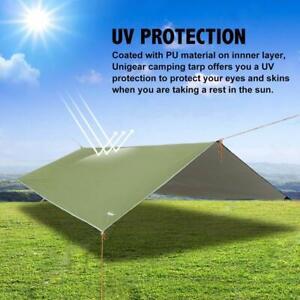 Fly Tent Tarp 300cm x 300cm,Anti-UV Lightweight Camping Shelter Waterproof Green