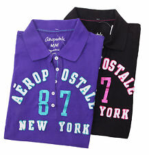 Aeropostale Women A87 NEW YORK Graphic Polo Shirt Style 6377-Free $0 Shipping