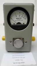 Bird Thruline Watts Wattmeter Model 43 Power and Frequency Range 50 OHMS