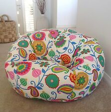 MultiColor Hand Making Floral Pattern Bean Bag Without Beans XXXL