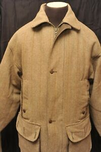 RARE VINTAGE MADE IN ENGLAND DUCKDRI HUNTING / SHOOTING TWEED FIELD COAT SMALL