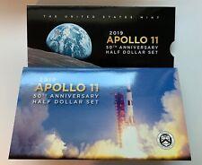 2019 S Apollo 11 50th Anniversary Proof 2 Coin Half Set 19CF - Reverse Kennedy