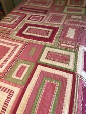 Pottery Barn Kids Katie Twin Quilt With Sham EUC