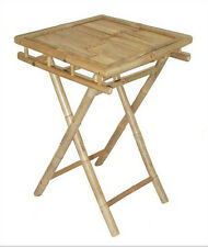 Delightful Bamboo Folding Tray Table Deluxe Tiki Patio Deck Or Indoor