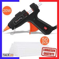 TACKLIFE Pistolet à Colle Chaude,20W /50 PCS Bâtons, Bricolage et Réparation