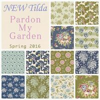 Tilda Pardon My Garden Spring Floral Blue Green 100% Cotton Patchwork Fabric