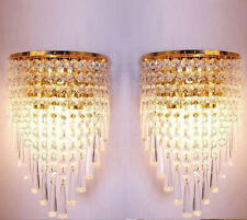 New Pair of Modern K9 Crystal Chandelier Wedding Pendant Wall Light Fixture Lamp