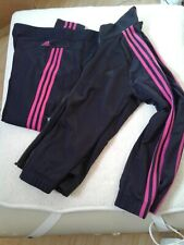 Adidas Neon Pink Stripes Track Suit (Pant & Jacket) Jacket L Pants Xl Jrs
