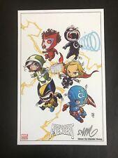 Uncanny Avengers Mini Print Skottie Young Signed COA Marvel Comics VF/NM