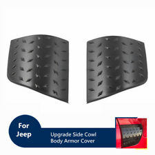Black Upgrade Side Cowl Body Armor Cover for 97-06 Jeep Wrangler TJ (Pack of 2)