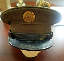 Original WW2 US Army Dress Visor Hat Made by De Luxe