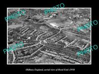 OLD LARGE HISTORIC PHOTO OLDBURY ENGLAND AERIAL VIEW ROOD END DISTRICT c1950 1