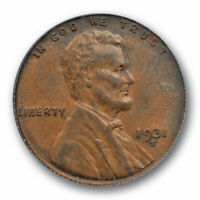 1931 S 1C Lincoln Wheat Cent PCGS AU 53 About Uncirculated Key Date Original ...