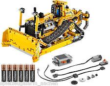 LEGO TECHNIC 42028 Bulldozer Grabenbagger + 8293 Power Function GRATIS Duracell
