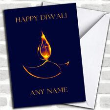 Blue Flame Customised Diwali Greetings Card