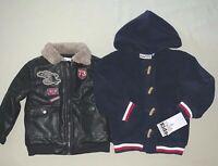 Boys size 3 3t Epic Threads Faux Leather Bomber Jacket Kids HQ Fleece Jacket Nwt
