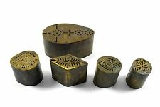 Antique Jali Cut Brass Rangoli Printing Artwork Making Dye. G46-101