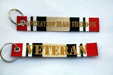 OPERATION IRAQI FREEDOM OIF VET KEYCHAIN PIN UP US ARMY MARINES NAVY AIR FORCE