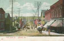 Sharon PA * East State St. 1909 * Ice Cream Store, Horse Drawn Wagons