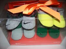 Nike Crib Shoes Booties Socks 4 Pr Sz 0-6 Mos Newborn Infant Assorted Colors NIB