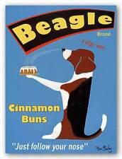 DOG ART PRINT Beagle Buns Ken Bailey 14x11