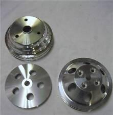 Small Block Chevy LWP Aluminum Power Steering Water Pump Crankshaft Pulley Kit