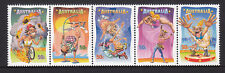 2007 Circus: Under the Big Top - MUH Strip of 5 Stamps