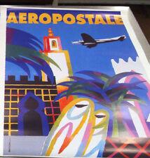 "AVIATION POSTER~Aeropostale Air Mail 18x25"" 1995 Auriac Plane Advertisement New~"