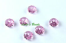 6 Light Rose Swarovski 5040 Rondelles Rondell Beads 6mm
