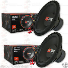 2 x NEW JBL 12-INCH SINGLE 4-OHMS CAR AUDIO SUBWOOFERS 12