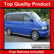 VW T4 TRANSPORTER SWB SIDE BARS SIDE STEPS STAINLESS STEEL CHROME STAINLESS STEP