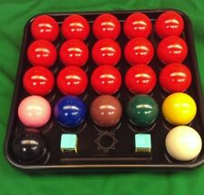 "22 BALL SNOOKER OR BILLIARD 2 1/16"" BALL TRAY. GOOD QUALITY STRONG BLACK TRAY"