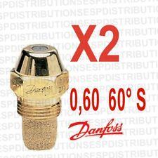 2 gicleur DANFOSS S débit 0,60 60 °S nozzle fioul 030F6912 en stock