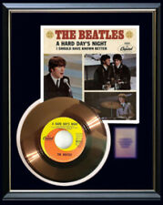 THE BEATLES HARD DAYS NIGHT GOLD METALIZED VINYL RECORD RARE 45 PM NON RIAA
