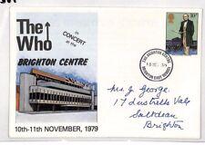 AV307 1979 GB COVER COMMEMORATIVA Brighton il concerto di chi