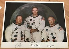 Apollo 11 8.5 X 11 Vintage Heavy Stock Nasa lithograph Armstrong Aldrin Collins