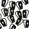 Halloween Coffin Black Party Decor Craft DIY Confetti