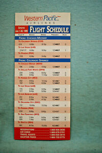 Western Pacific Airlines Timetable, June 1-30, 1995