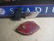 Vintage Outdoor Edge Game Skinner Knife Seki-Japan w/ Leather Sheath