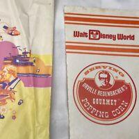 Vintage Popcorn Container Box and Bag Lot Orville Redenbacher Walt Disney World