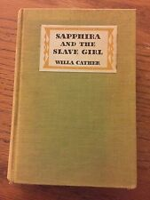 "Vintage ""Sapphira And The Slave Girl"", Cather, 1940, 1st Edition"