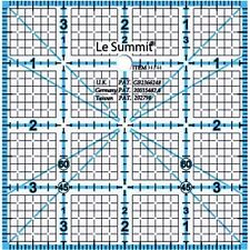 "Le Summit 4 Inch X 4 Inch Quilting Ruler Clear Acrylic Ruler 4""X4"""