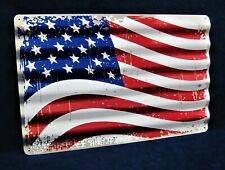 U.S.A. Flag - *Us Made* Corrugated Metal Sign - Man Cave Garage Bar Wall Decor
