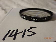 Jessops 58 mm +4 Filtro de primer plano macro limpio y comprobado