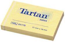 Tartan bloc-note repositionnable, 100 feuilles/bloc, jaune, 12 blocs