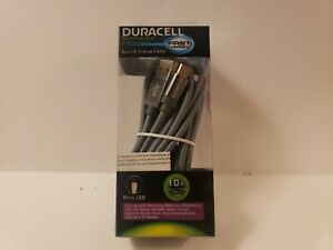 Duracell Sync & Charge Cable,10ft  Silver Braided Cord